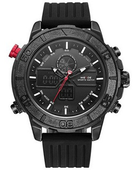 Relógio Masculino Digiital Preto Weide Wh-6108 C Garantia
