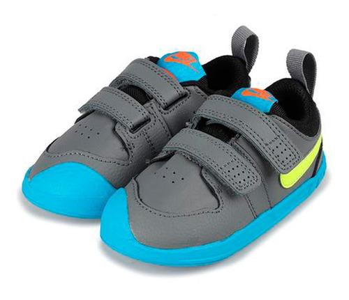 Champion Nike Pico 5 Tdv Smoke Grey/lemon Venom-laser Blue-