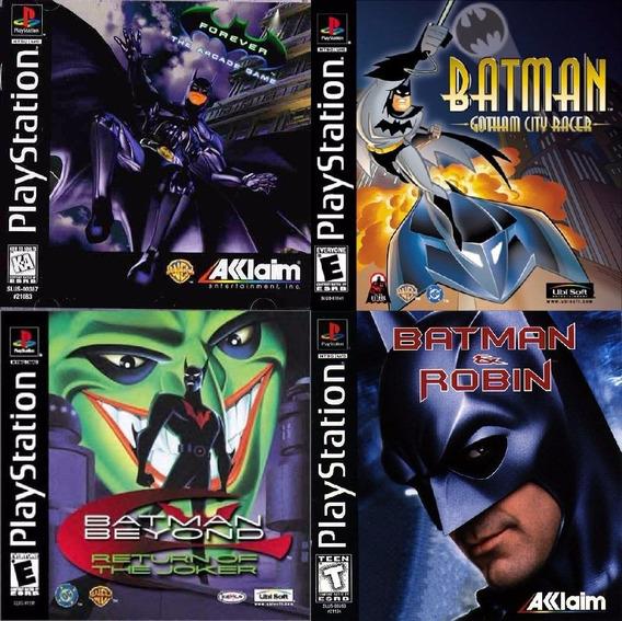 Kit 4 Discos Batman Inbox Pacths Psx Psone Ps1 Pc Ps2*