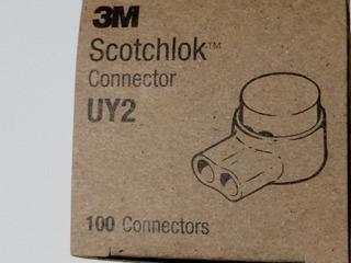 5 Cajas Con 100 Conectores Uy2 3m Originales Con Gel