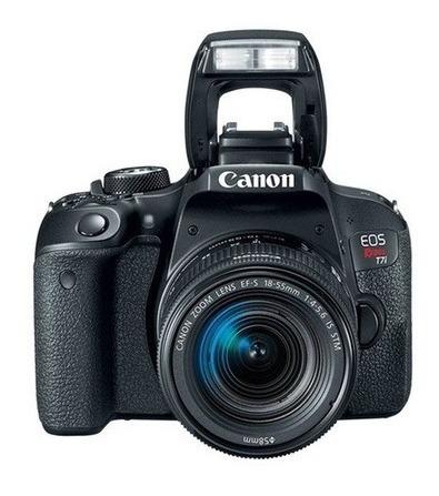 Câmera Digital Canon T7i C/ 24.2 Mp Com Lente 18-55mm