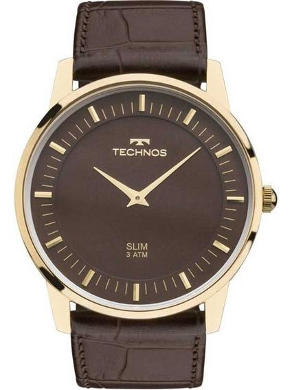 Relógio Technos Unissex Classic Slim Couro Gl20hj/2m C/ Nfe