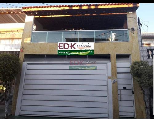 Imagem 1 de 13 de Sobrado Com 2 Dormitórios À Venda, 200 M² Por R$ 371.000 - Jardim Ana Maria - Diadema/sp - So2052