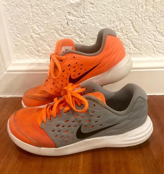 zapatillas nike naranjas niño