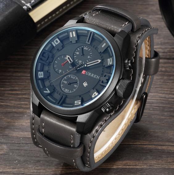 Relógio Esportivo Curren Original Couro 8225