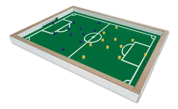 Brinquedo Jogo Dedobol Campo De Futebol De Madeira