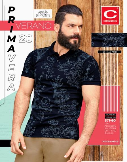 Playera Tipo Polo Teal 371-60 Cklass Primavera-verano 2020