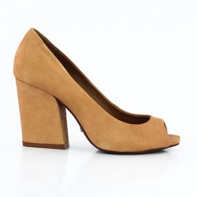 Sapato Schutz Peep Toe Feminino Salto Quadrado - Coutope