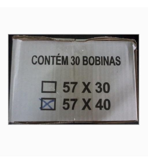 2 Caixas Bobina 57x40m P/ Calculadora,registradora C/30 Cada