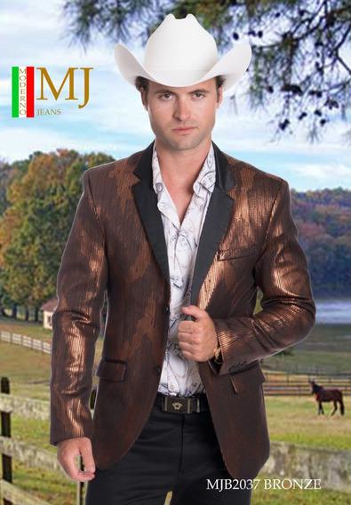 Saco Para Caballero Premium Marca Moderno Mj 2037 Bronce