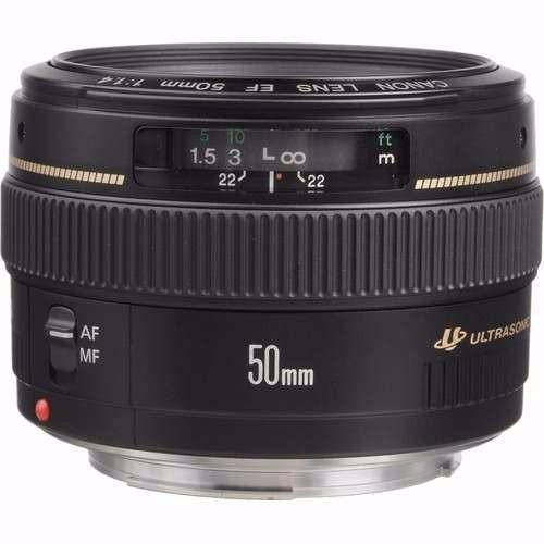 Lente Canon 50mm F/1.4 Usm Ef Original Nf+1 Ano De Garantia