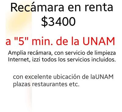 Se Renta Habitación Para Estudiante A 5min. De La Unam $3400