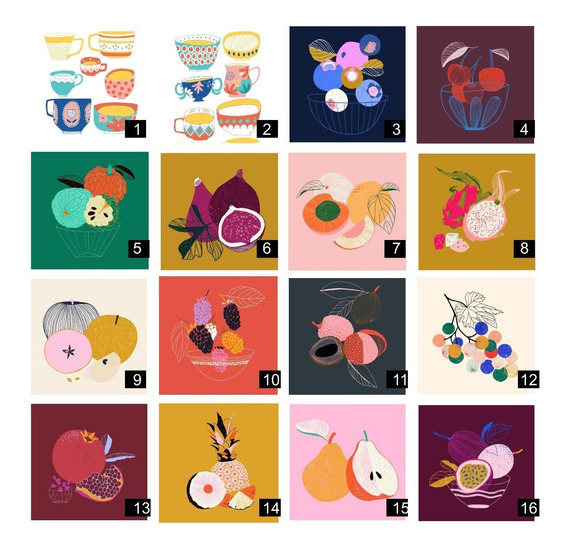 Vinilos Azulejos Cocina Frutas Autoadhesivos 20x20