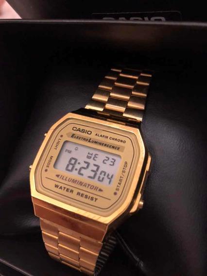 Relógio Casio Vintage Dourado Modelo 3298