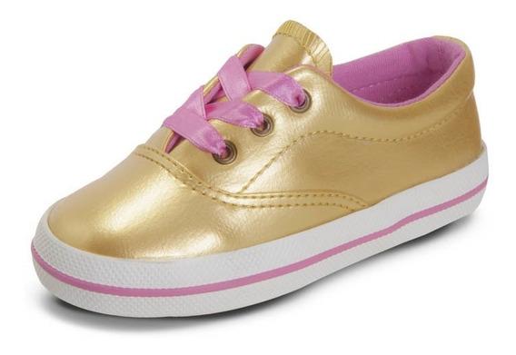 Zapato Croydon Champion Kids Silver Dorado Para Niña