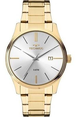 Relógio Masculino Dourado Technos 2115mpn/4k