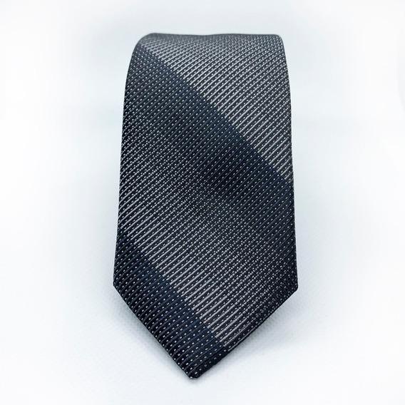 Corbata Gris Slim Tie Delgada De Moda Para Hombre 6 Cm Seda