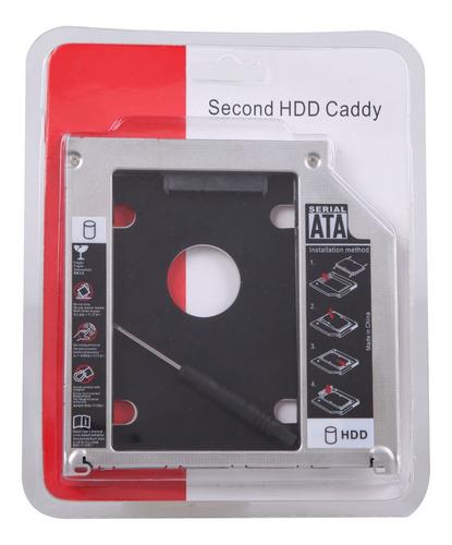 Imagen 1 de 7 de Caddy Sata A Sata 9,5mm Segundo Disco Lectora Notebook Mac