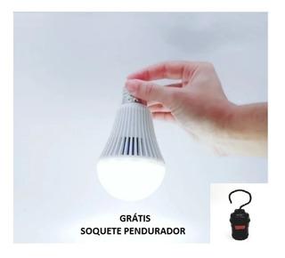 Lâmpada De Emergência - 7w - 6500k - Luz Branca - Bivolt - Ctb / Não Fique No Escuro, Mesmo Sem Energia Elétrica
