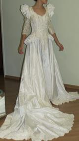 Vestido De Noiva Todo Bordado A Mão Tam 38-40