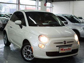 Fiat 500 1.4 Cult 8v Flex 2p Automatizado 2014 Branco Perola