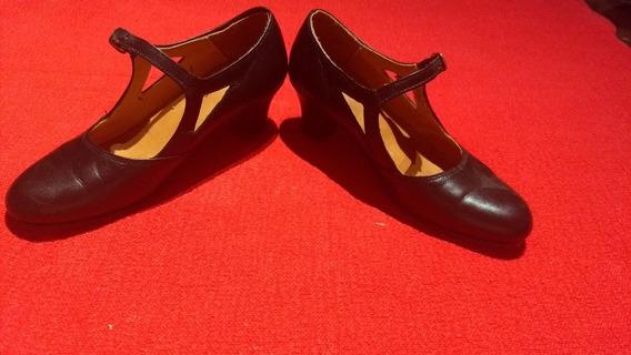 Zapatos Danza 35 Muy Poco Uso Como Se Ve. Hermosos. Cuero.