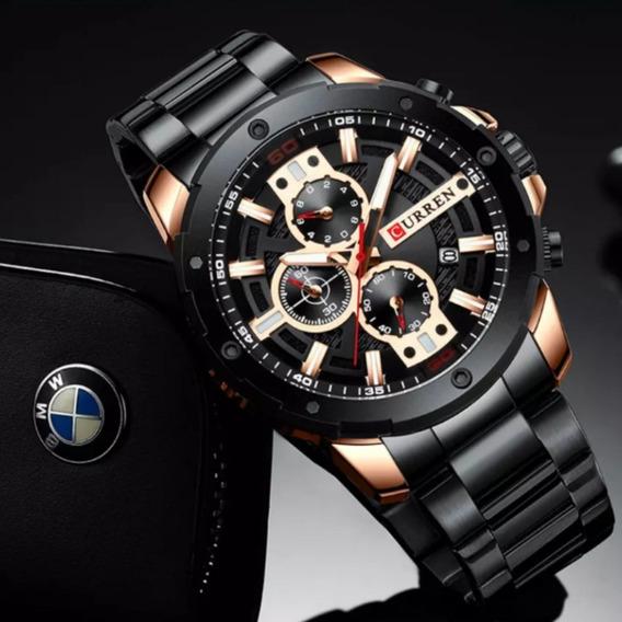 Relógio Esportivo Luxo Curren M8337 Funcional Pulceira Aço