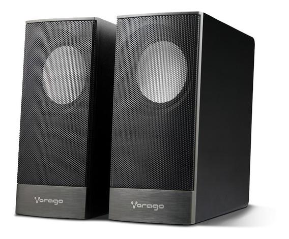 Bocinas Usb Para Computadora Pc 2.0 Aux 3.5mm Vorago Celulares Audio Nitido