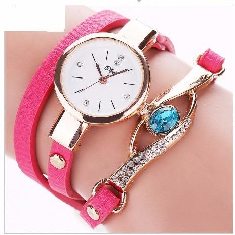 Lindo Relógio Feminino Retro Pink Frete Barato