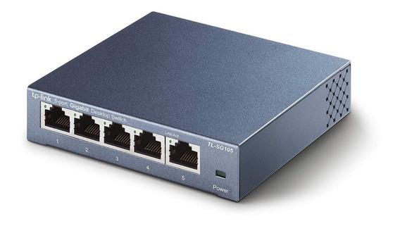 Switch Gigabit Tp-link Tl-sg105 5 Bocas Metalico - La Plata