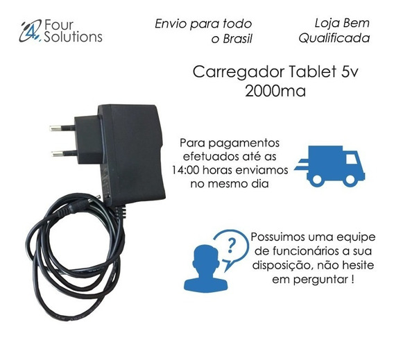 Carregador Tablet 5v 2000ma