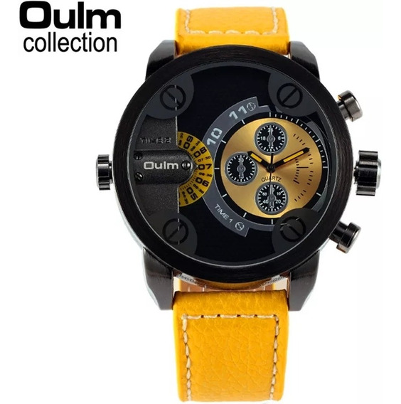 Relógio Unisex Yellow 2019 Oulm Original Amarelo