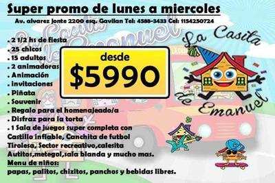 Salon De Fiestas Infantiles/caballito/paternal/floresta
