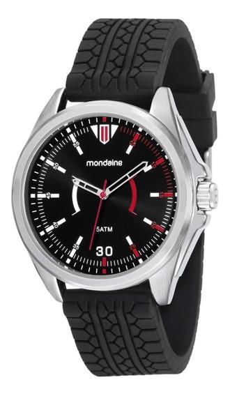 Relógio Mondaine 53525g0mvnl1 Masculino Silicone Prateado