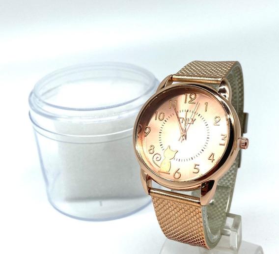 Kit 6 Relógio Feminino Barato Para Revenda De Pulso Novo Or