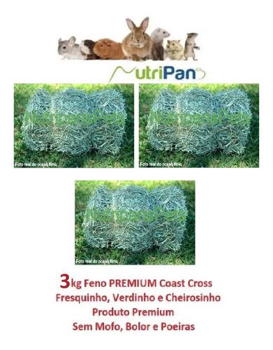 Feno Coast Cross Premium Coelhos Roedores Mini Pigs 3kg