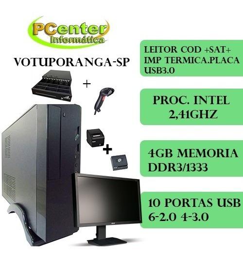 Computador Ideal Autom Comer Intel 2.41ghz 4gb Ssd Tela 19.5