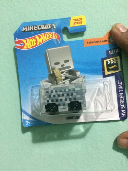 Minecraft Minecart Hot Wheels 2019
