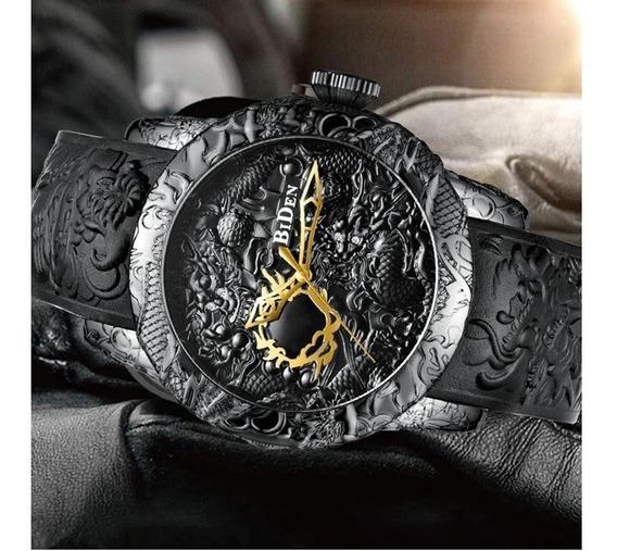 Relógio Masculino Dragão Luxo Biden Original