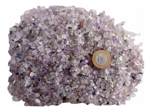 Pedra Natural Cristal Rolada Cascalho Quartzo Ametista 500g