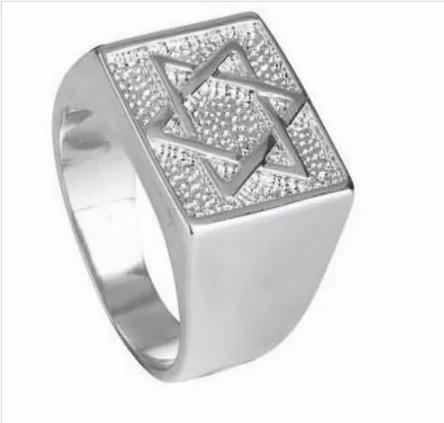 Anel Estrela De Davi Florenzza Em Prata 950
