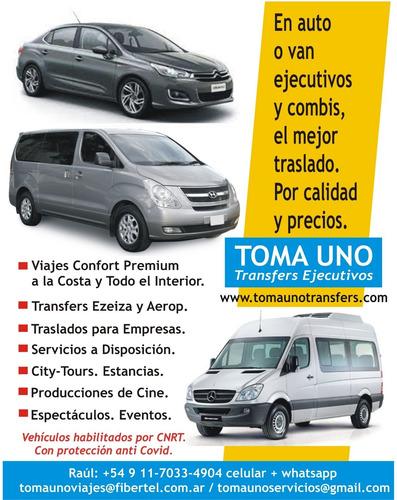 Imagen 1 de 10 de Traslados Con Auto Y Vans Ejecutivas A Ezeiza Y Todo El Pais