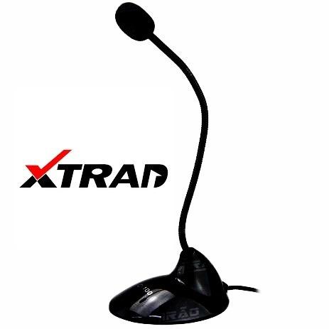 Microfone De Mesa Base E Haste Flexível P/ Pc Xtrad Xt-2034
