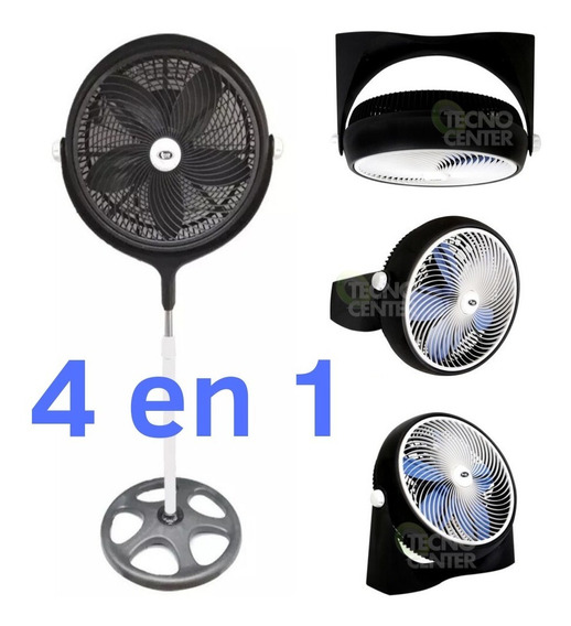 Ventilador Startrak 120 Watts 4 En 1 Pie Piso Pared Turbo