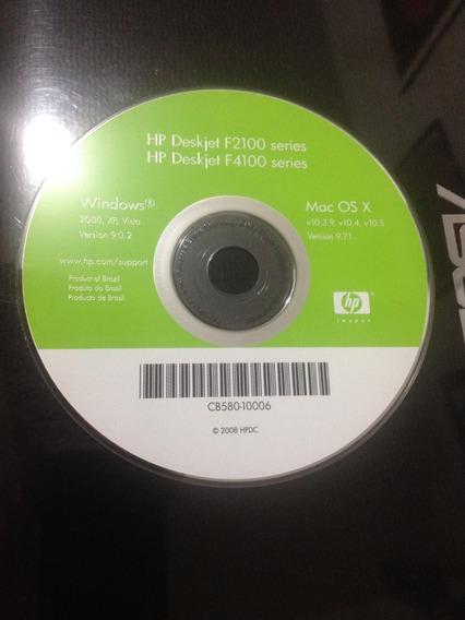 Cd De Instalação Impressora Hp Deskjet F2100 / F4100 Series