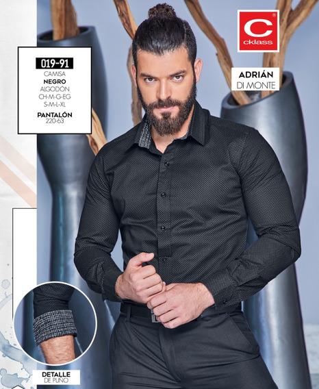 Camisa Caballero Negra Mod. 019-91 Oi 2019