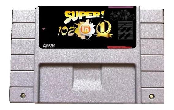 Cartucho Multi Games Super Nintendo 102 Jogos Em 1