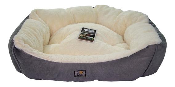 Cama Perro Gato Ultra Suede Gris Animal Planet 60x50x21cm