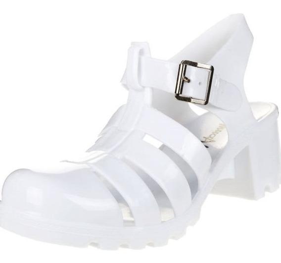 Sandalias Muaa Lolette Color Blancas Y Plateadas