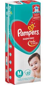 Fraldas Pampers Supersec 3 Pacotes Tamanho M